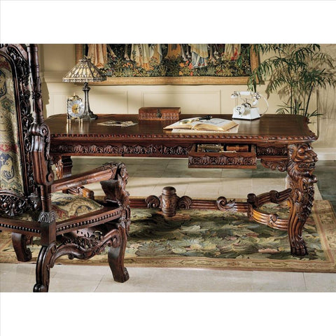 Lord Raffles Lion Table - Tapestry Zest