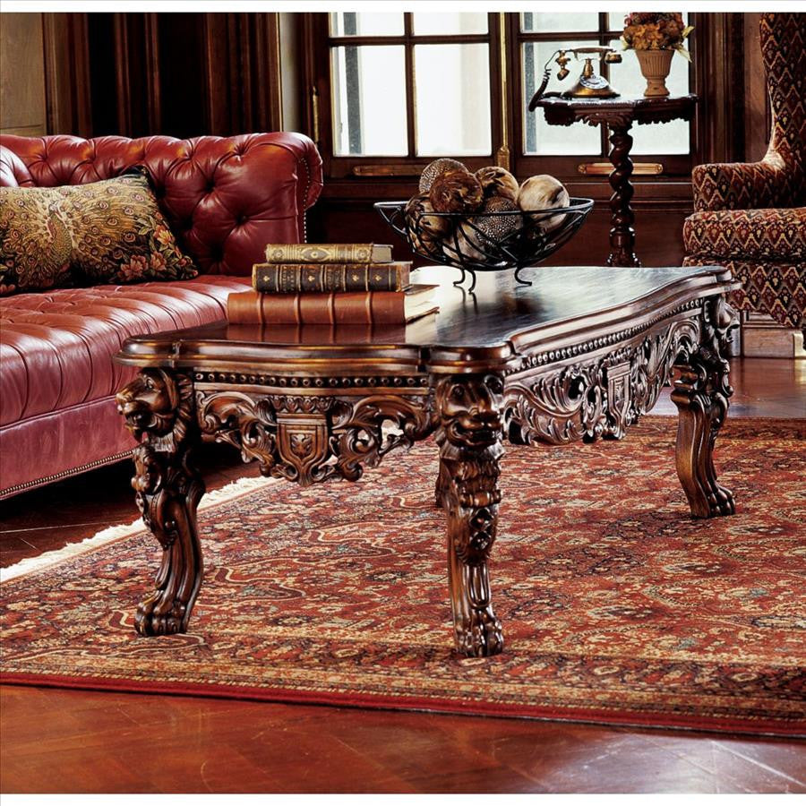 Grand Hall Lion Leg Coffee Table - Tapestry Zest