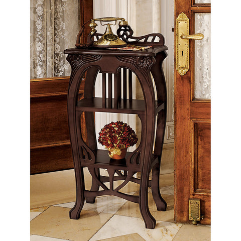 Art Nouveau Harp Side Table - Tapestry Zest