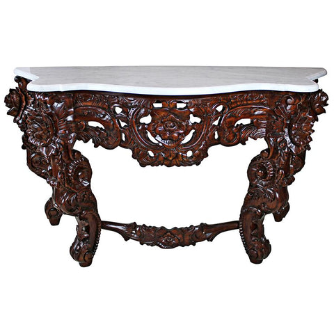 Hapsburg Console Table With Marble Top