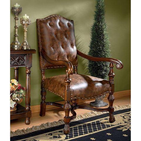 Villandry Spanish Revival Arm Chair - Tapestry Zest
