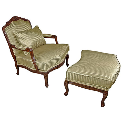 Rue Saint-Honore Bergere Chair and Ottoman