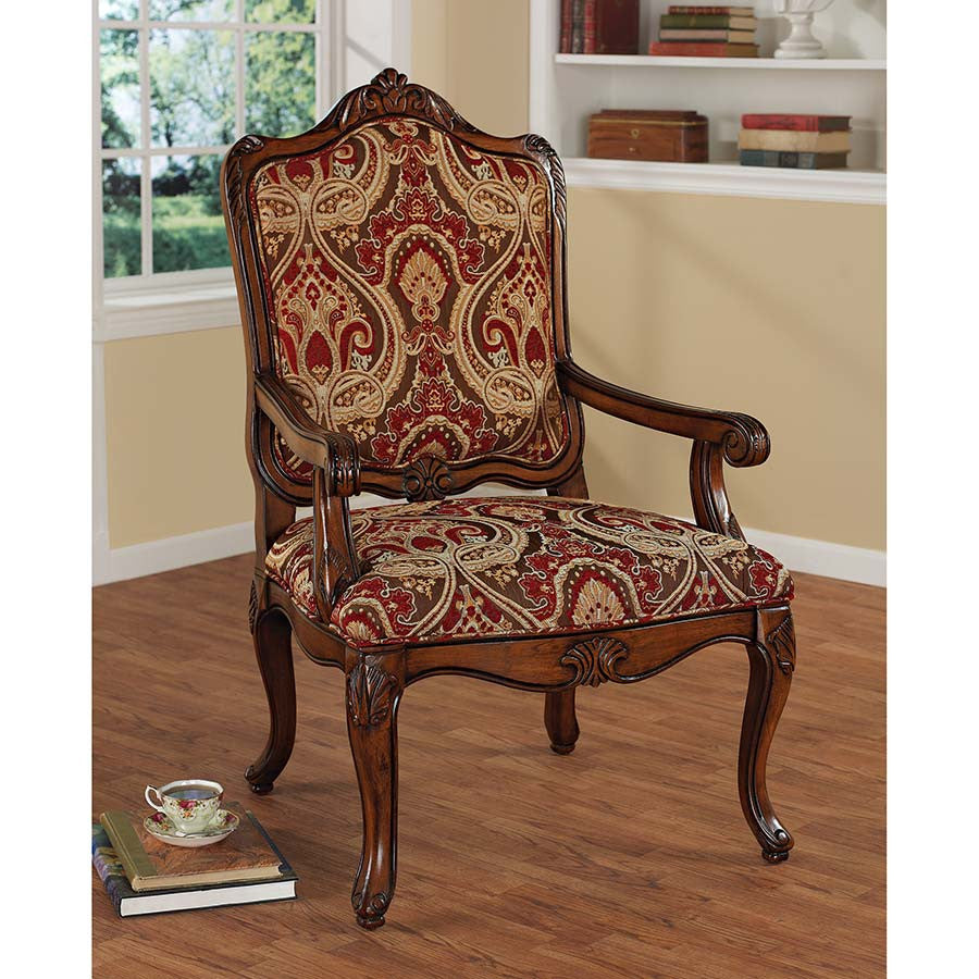 Louis Xv Bergere Chair - Tapestry Zest