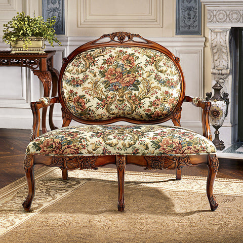 Calcot Manor Medallion Settee - Tapestry Zest