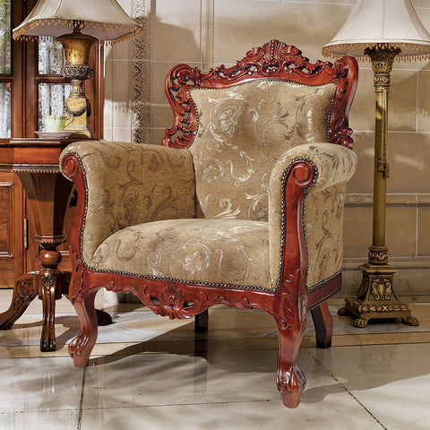 La Belle Fleur Arm Chair - Tapestry Zest