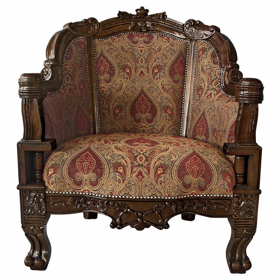 Gentlemens Plush Chair - Tapestry Zest