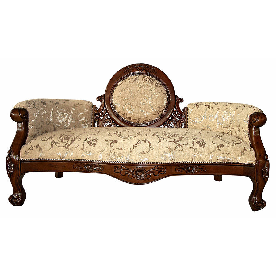 Victorian Cameo Backed Settee - Tapestry Zest