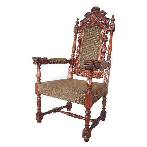 Grand Occasion Heraldic Arm Chair - Tapestry Zest