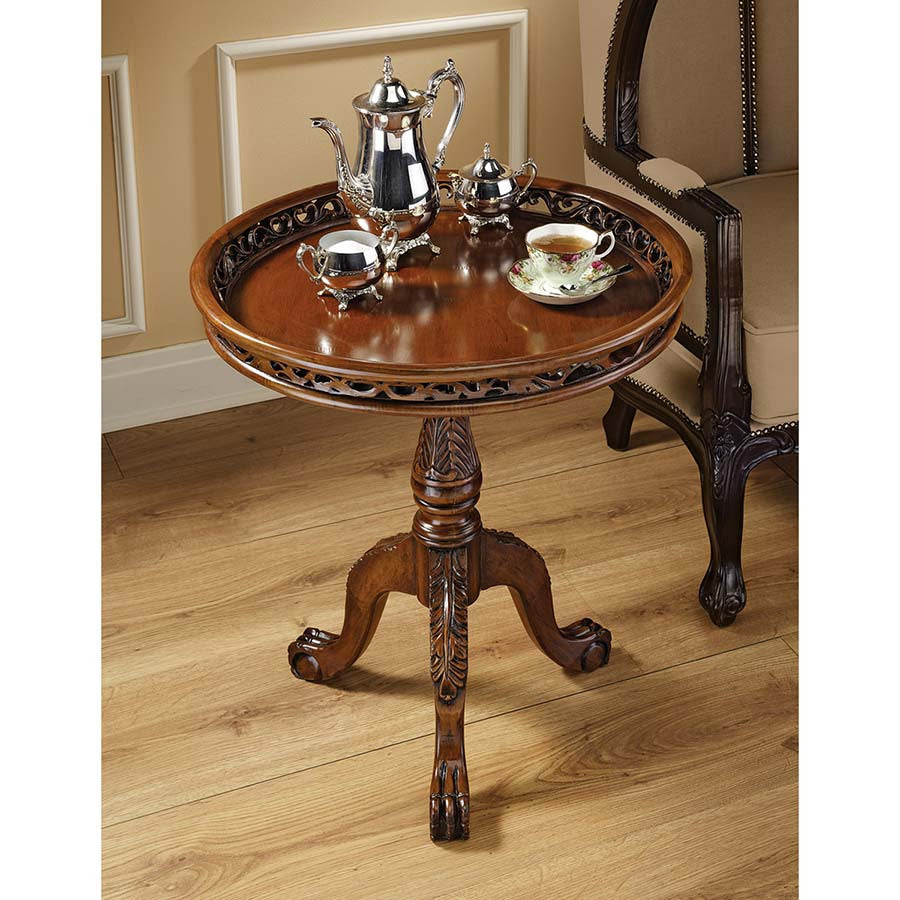 Lady Wentworth Pie Crust Tea Table - Tapestry Zest
