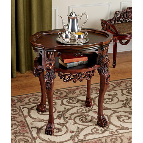 Lord Raffles Lion Tray Table - Tapestry Zest
