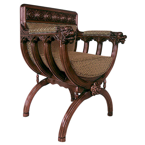 San Lorenzo Cross Frame Chair - Tapestry Zest