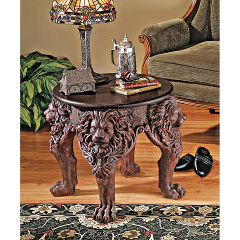 Lord Raffles Lion Leg Side Table - Tapestry Zest