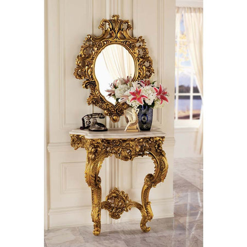 Madame Antoinette Console & Mirror Set - Tapestry Zest