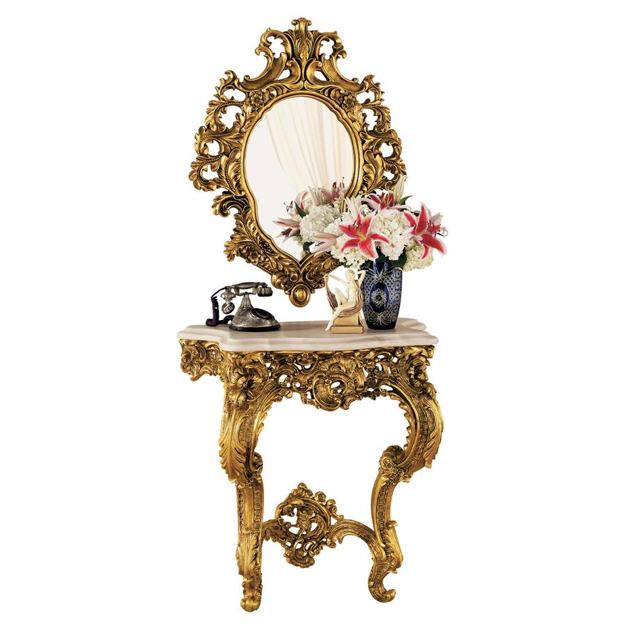 Madame Antoinette Console And Mirror Set Tapestry Zest