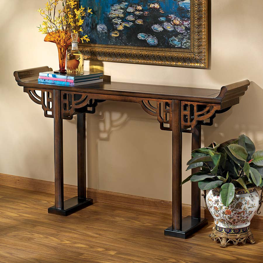 Forbidden City Asian Console Table - Tapestry Zest