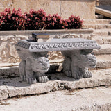 Blair Castle Gargoyle Bench - Tapestry Zest