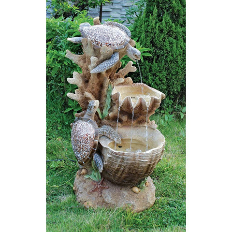 Turtle Cove Cascading Garden Fountain - Tapestry Zest