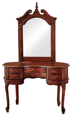 Queen Ann Dressing Table and Mirror