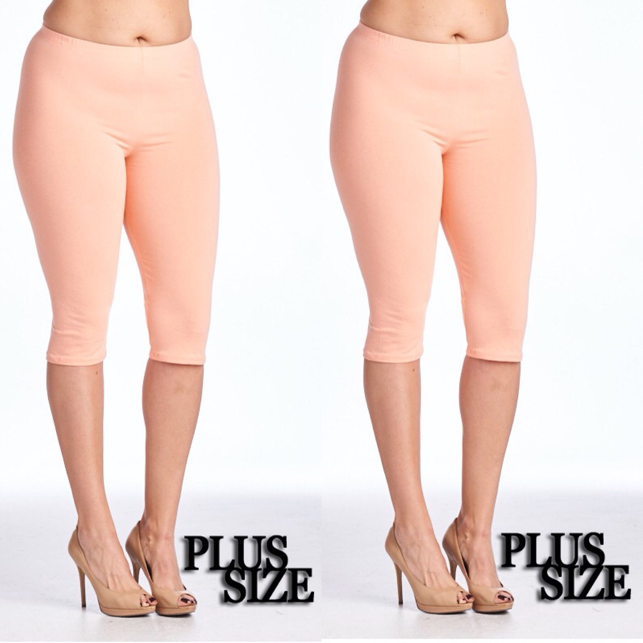 Black, White or Nude Capri Length Leggings - socialbutterflycollection-com