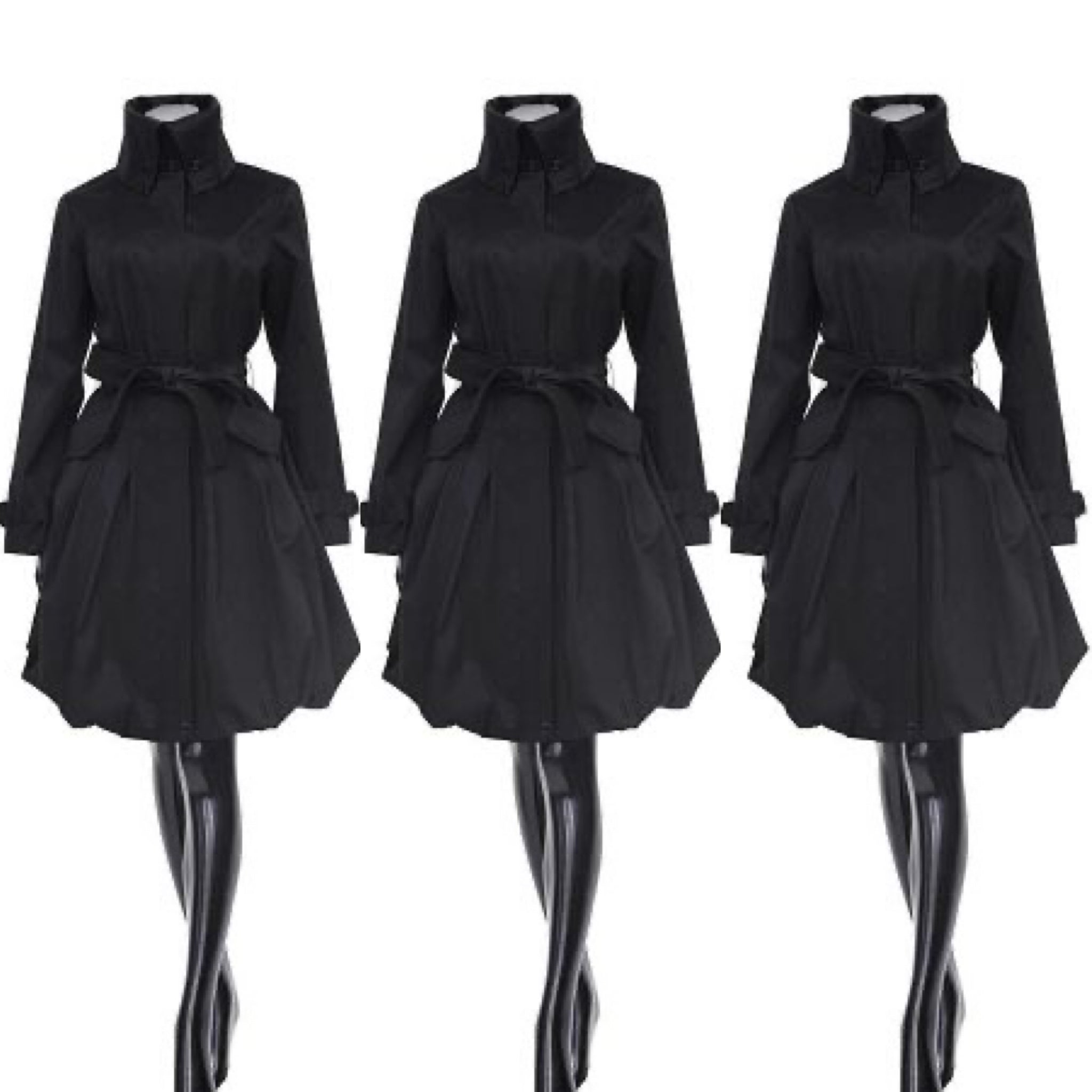 Black Modern Day Coat Dress