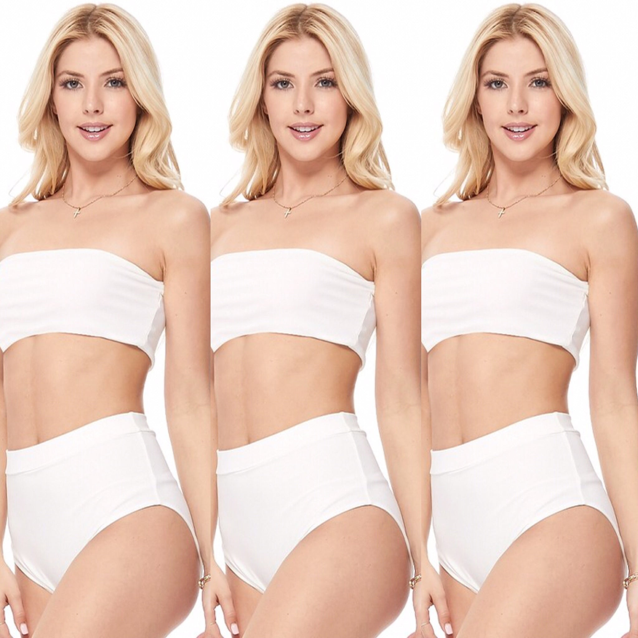 White Two Piece Pool Side Swimsuit - socialbutterflycollection-com (3880739274813)