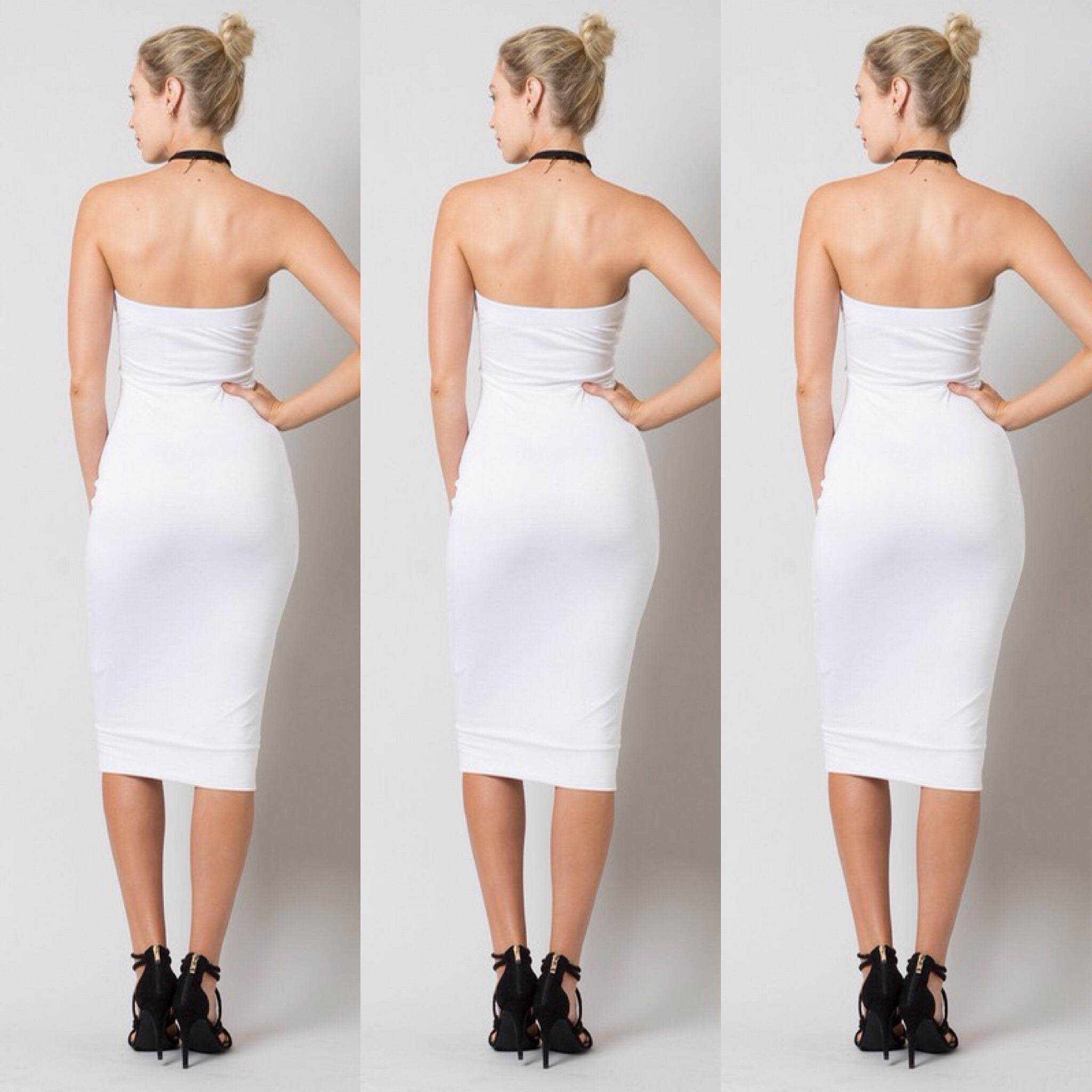 Buy Strapless White Plus Size Tube Top Dress at Social Butterfly ...