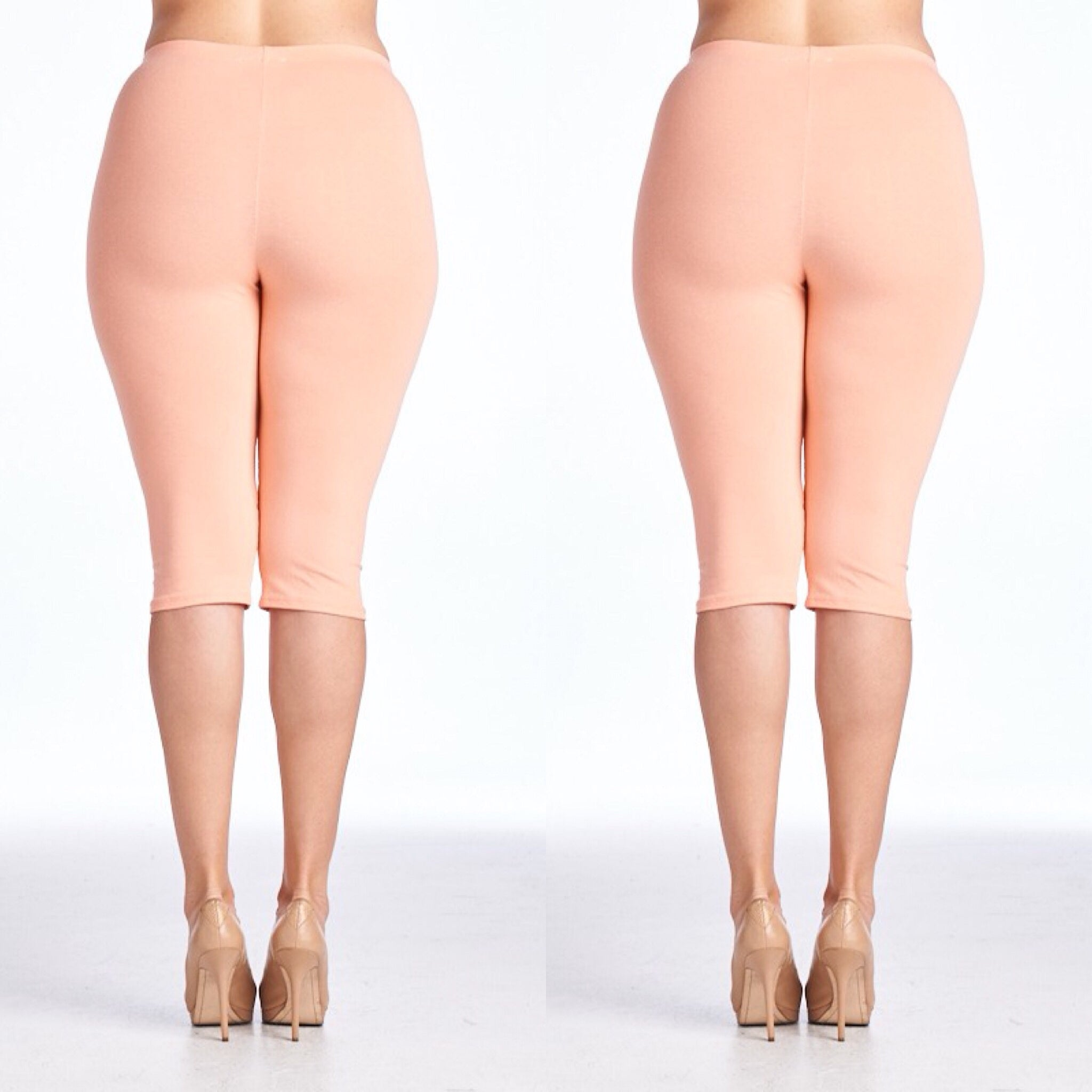 Black, White or Nude Capri Length Leggings