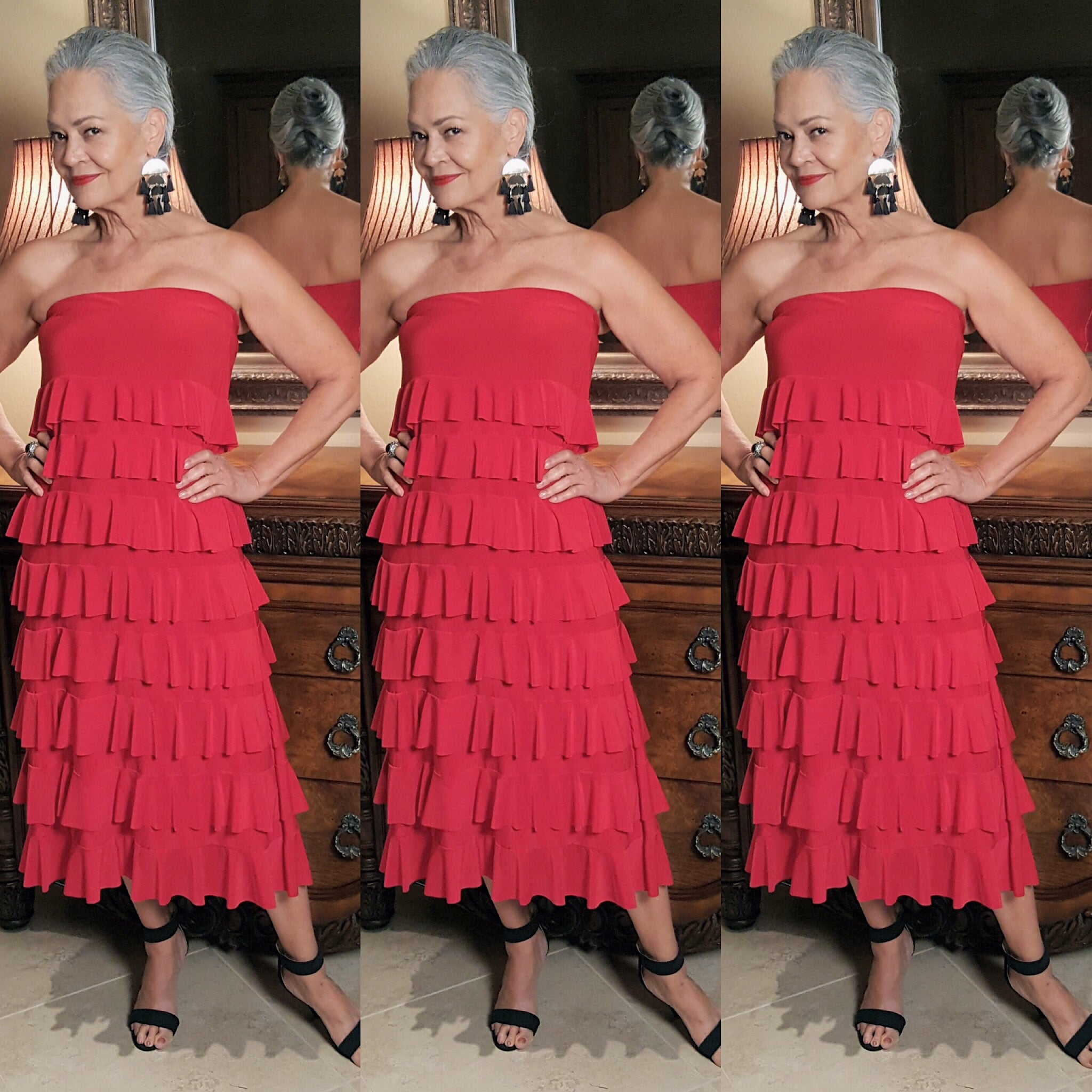 Red Layered  Maxi Skirt Dress - socialbutterflycollection-com (743451590717)