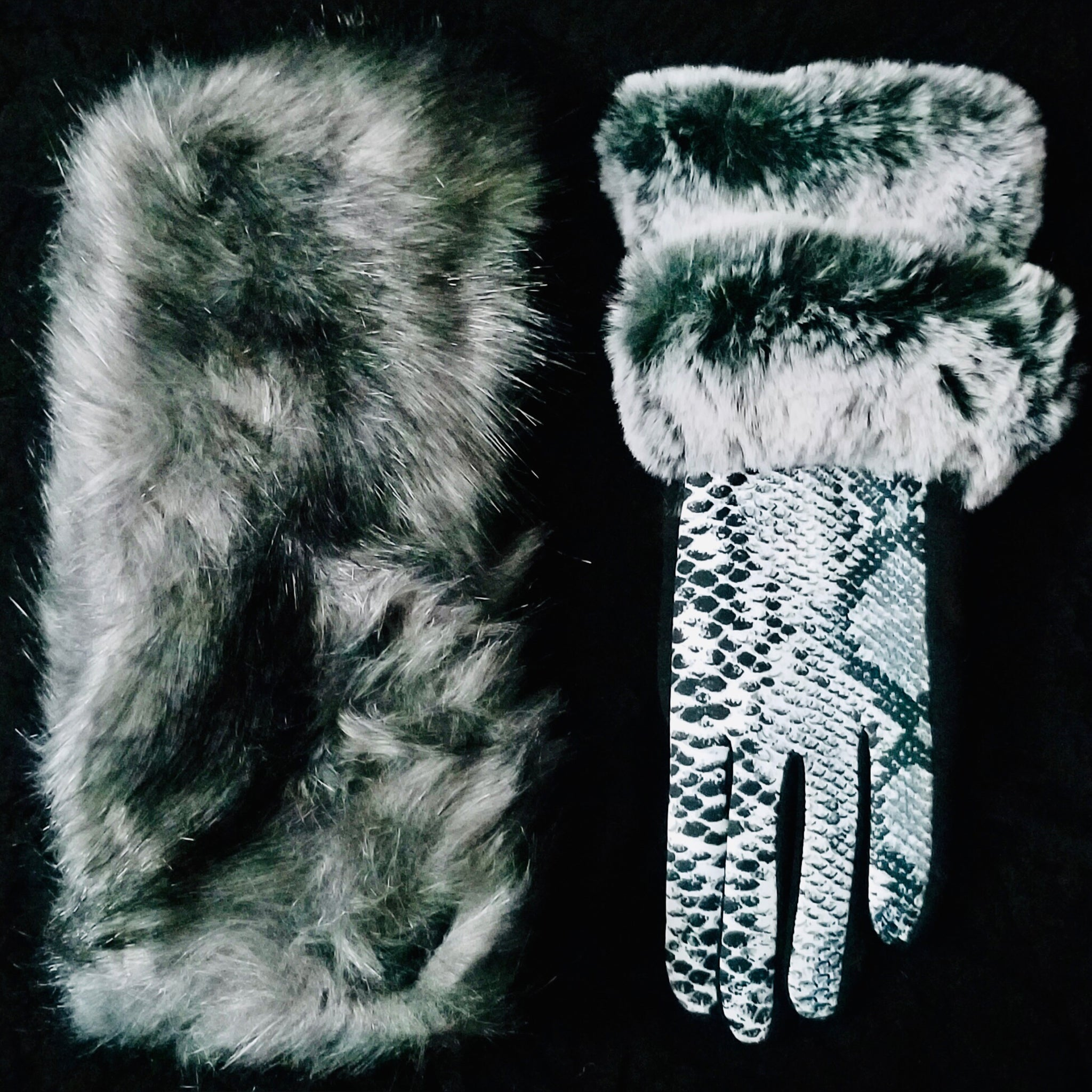 Faux Fur Gloves or Headbands (4323458318397)