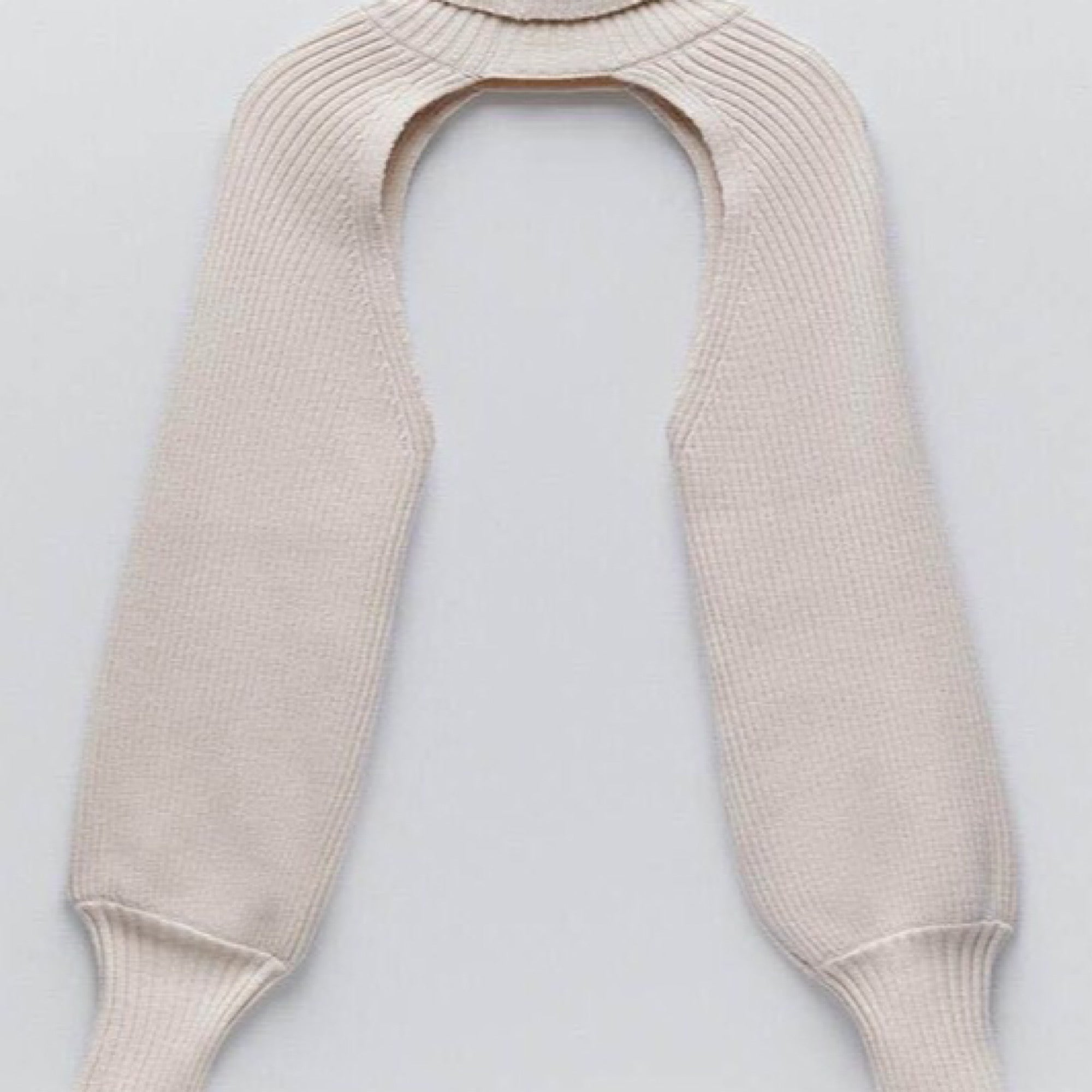 Turtleneck Sweater Scarf With Sleeves