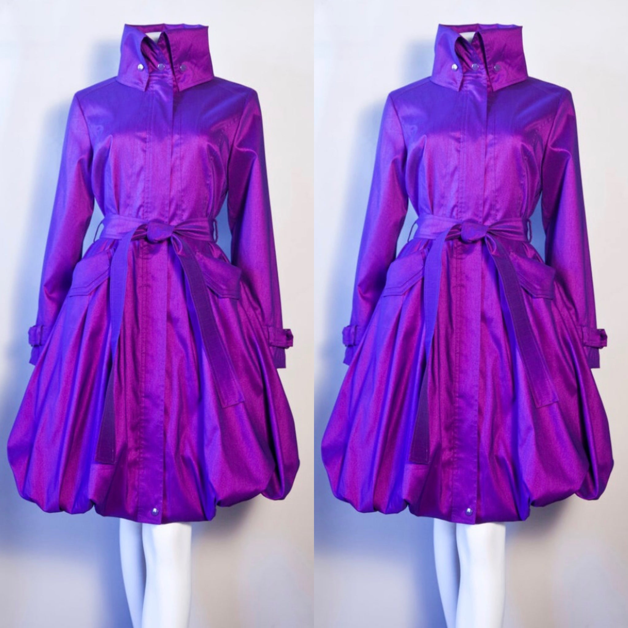 Purple Modern Day Coat Dress