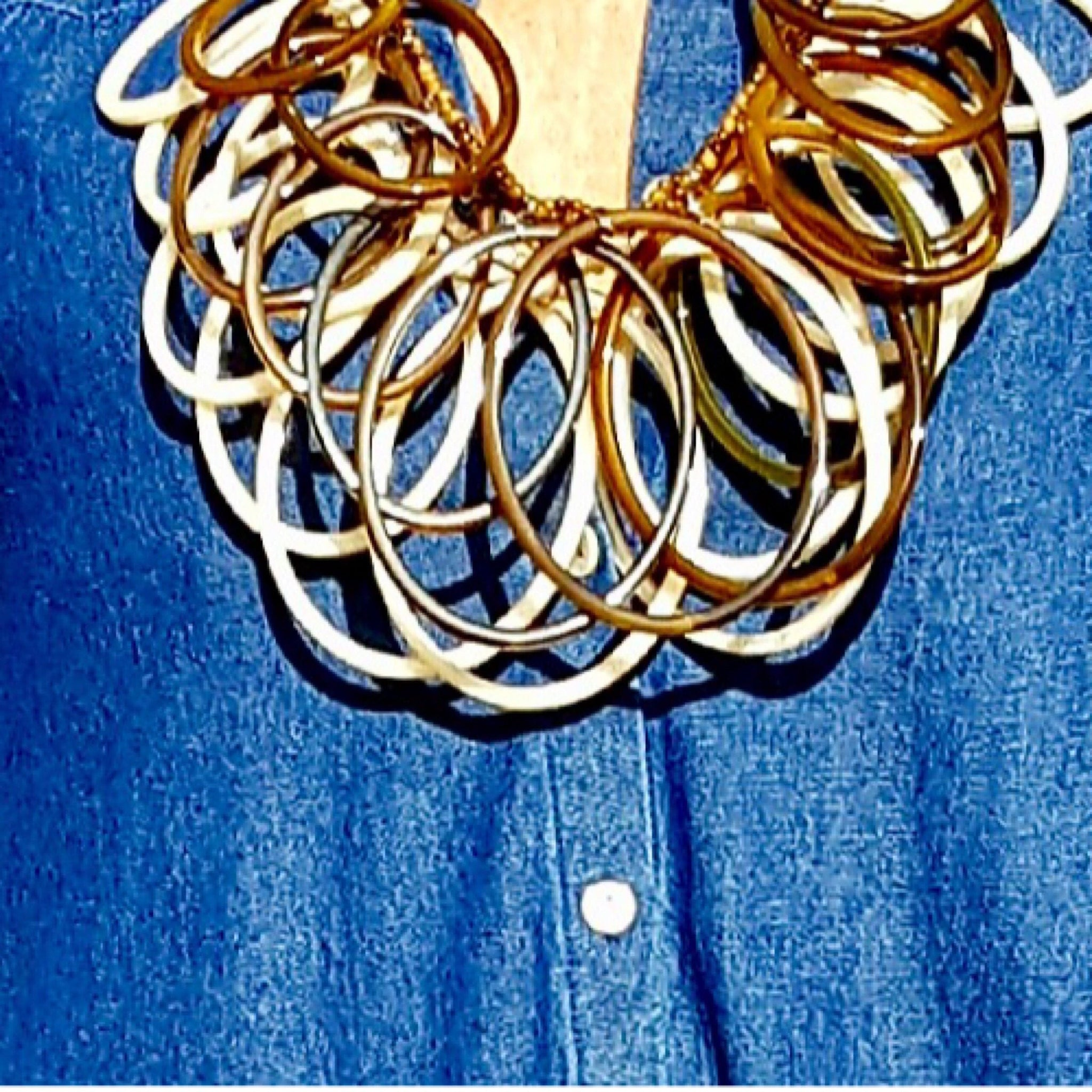 Chunky Loops And Hoops Necklace