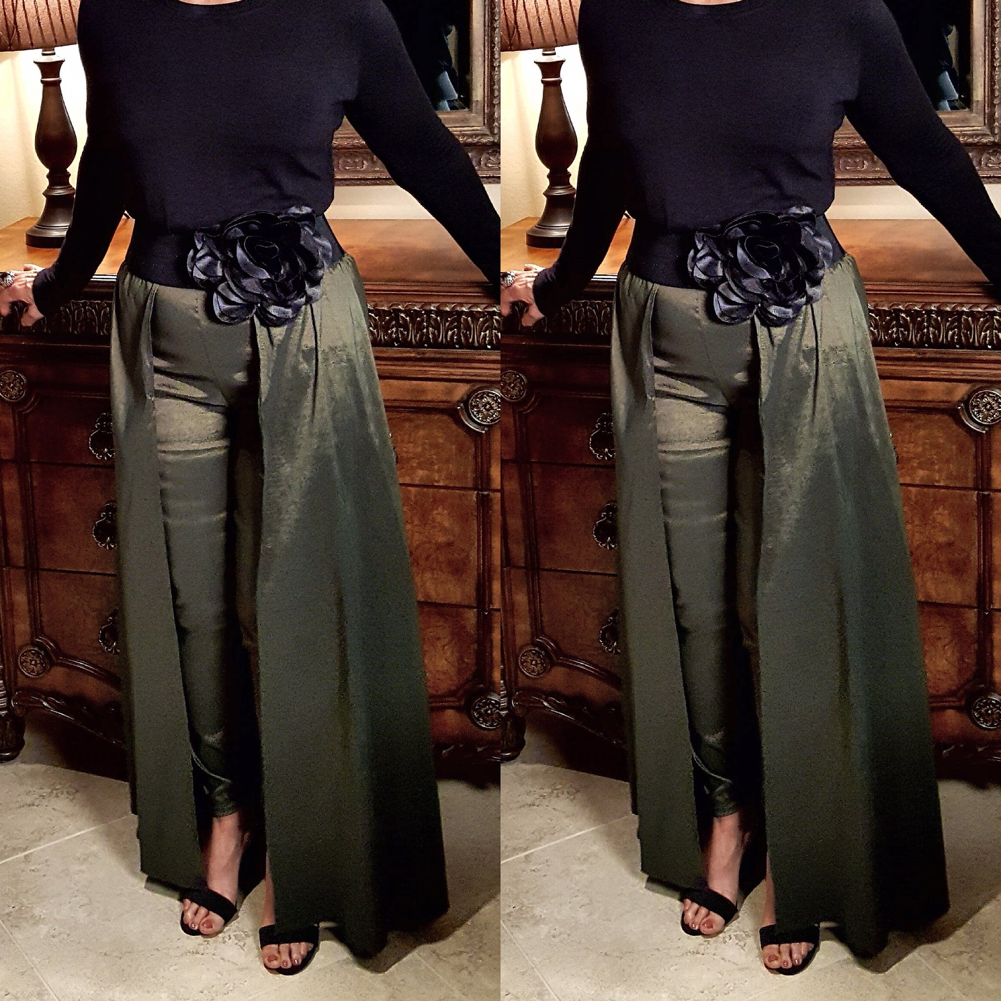 Olive Green Pant Skirt Combo - socialbutterflycollection-com (16626384910)