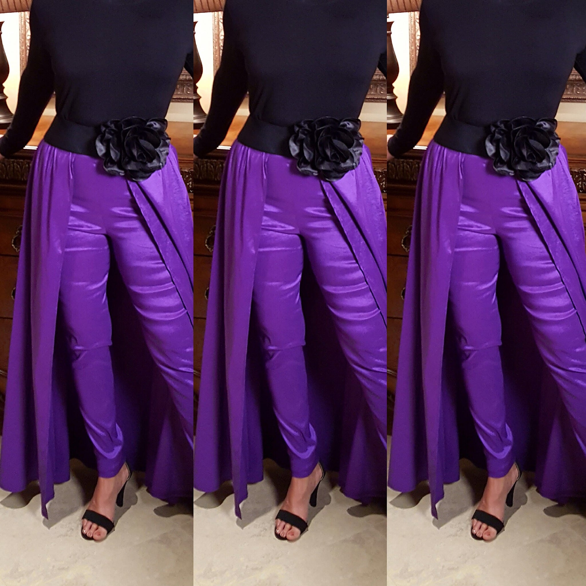 Purple Pant Skirt Combo