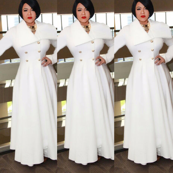7503a4124dcd Long Off White Duster Coat Dress. Social Butterfly Collection