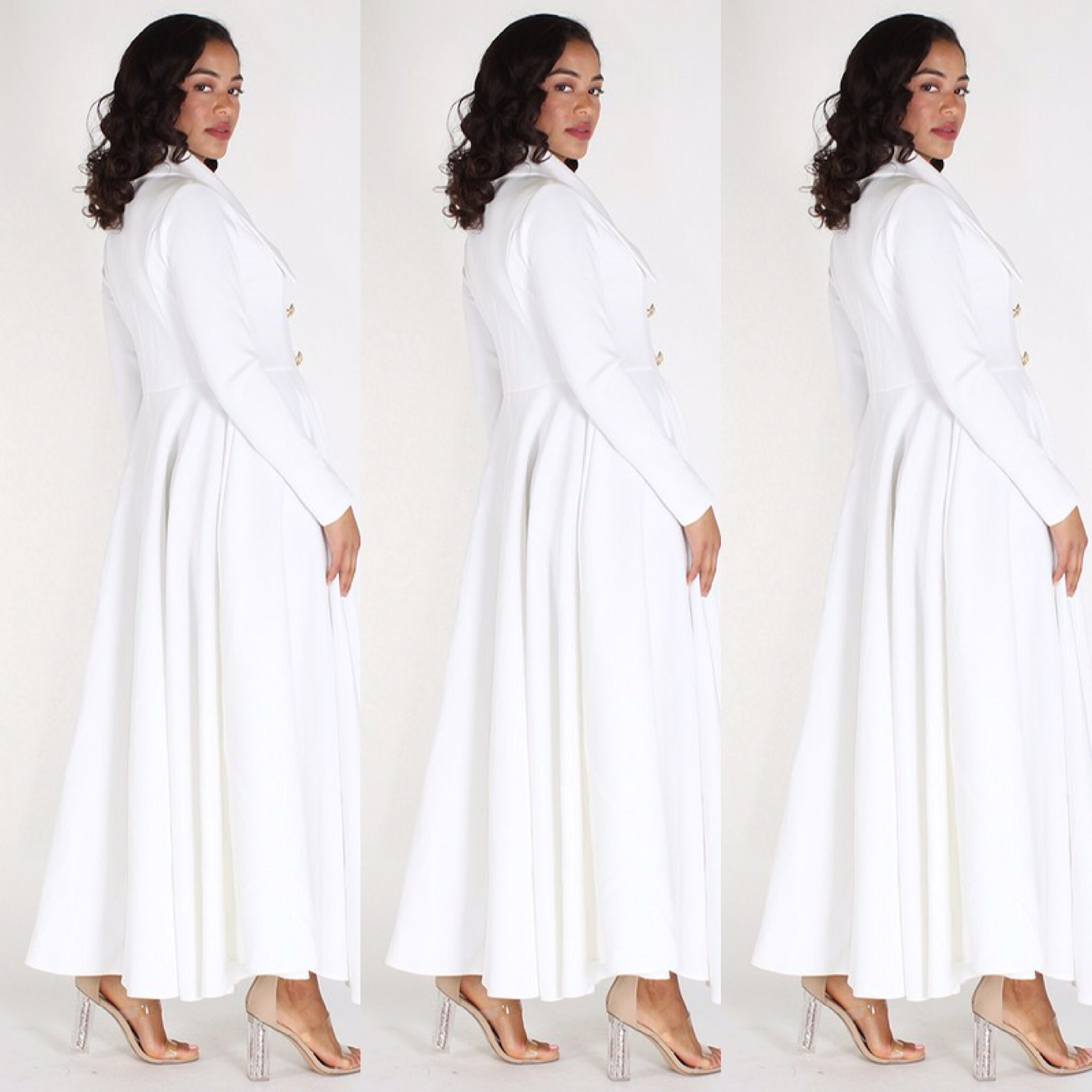 Long Off White Duster Coat Dress - socialbutterflycollection-com (73817489422)
