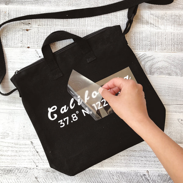 DIY Tote Personalize Your Favorite City Coordinates