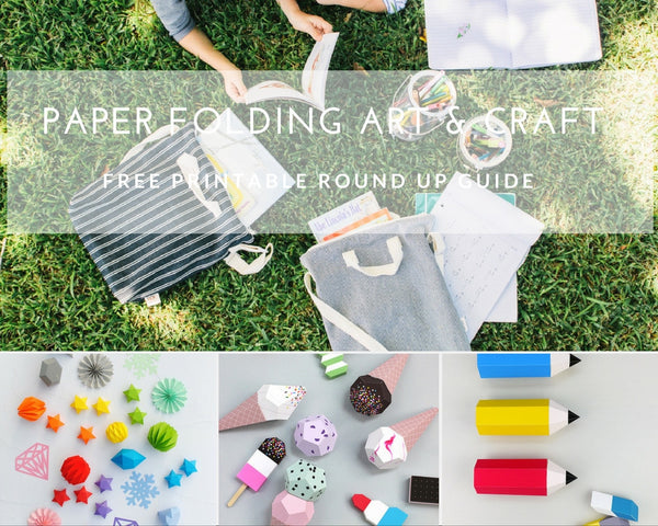 Round Up of Free Printable Paper Folding Art Activities For Kids