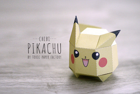 Chibi Pikachu Paper Toy Printable For Kids Free