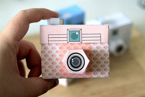 Free Printable Paper Mini Cameras Kids Activity for Weddings Holiday Dinners