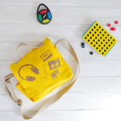 Connect 4 and Simon Kids Game in Mini Messenger Bag