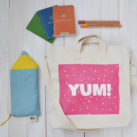 diy kids tote bag painted sprinkles