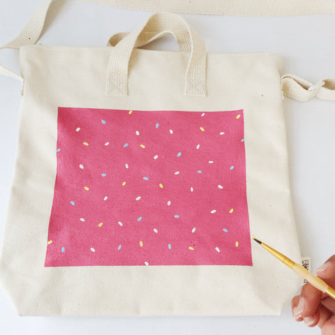 diy painted kids tote bag