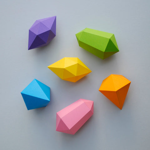 paper gems by minieco paper folding for kids projects