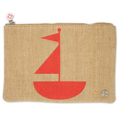 geometric shapes sailboat pouch