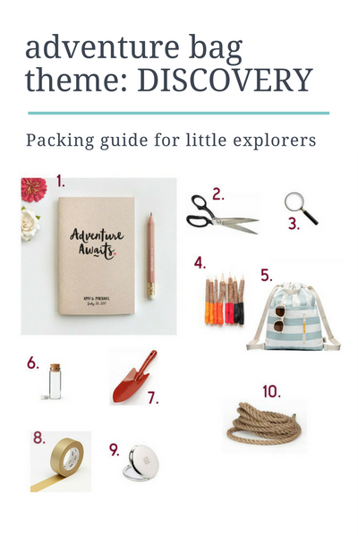theme: discovery adventure pack for little explorers packing list