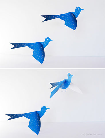 Flapping Paper Birds by Mr Printables