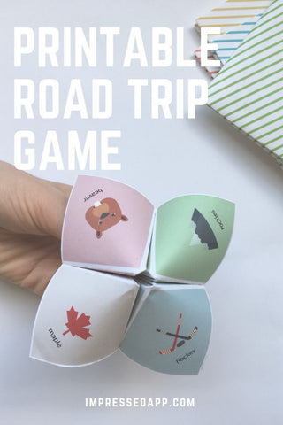 Printable Road Trip Fortune Telling Game