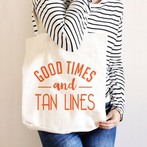 Good times and tan lines beach tote diy