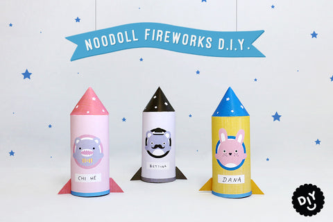 Paper Folding Rocket Craft Toy by Noodoll